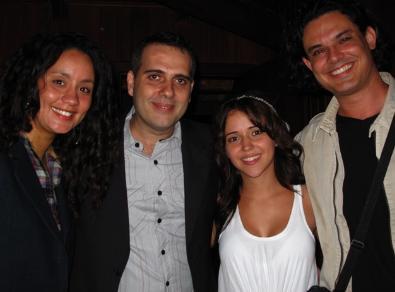 Luana Henrique, Rodrigo Sater, Carolina Junqueira e Yassir Chediak