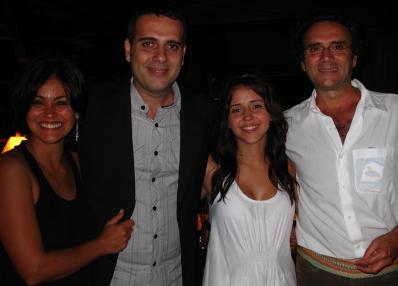 Paula (esposa de Almir), Rodrigo Sater, Carolina Junqueira e Almir Sater