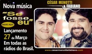 "BAIXAR "" Se Fosse Eu ""   César Menotti e Fabiano Baixe o mais novo sucesso de César Menotti e ..."