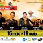 Luan Santana, Fernando e Sorocaba, Michel Teló, Milionário e José Rico e Chico Amado e Xodóse apresentarão na 9ªFesta do ...