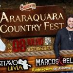 Nesta próxima segunda, dia 08/07, véspera de feriado acontece o Araraquara Country Fest 2013. Neste ano o Araraquara Country Fest ...