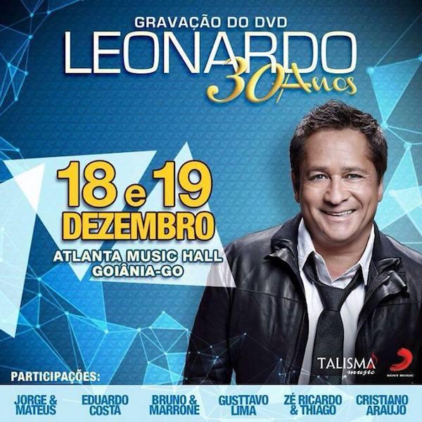 gravacao DVD Leonardo em goiania