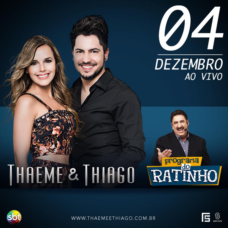 Thaeme e Thiago no Ratinho