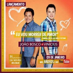 """Neste final de semana, a dupla sertaneja João Bosco e Vinícius anunciou a chegada de uma novidade através de suas redes sociais. """"Estamos muito felizes!!! Finalizando mais um projeto muito importante para nossa vida! Música nova chegando!!!! #JBeV2014#JB"""", legendou a ..."""