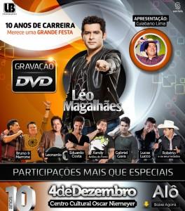 Hoje Goiânia (GO) vai tremer!!! Em comemoração aos dez anos de carreira, o cantor Léo Magalhães irá gravar hoje, dia ...
