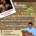 Amanhã, dia 01 de fevereiro, o nosso querido cantor e compositor Paulinho Reis irá fazer uma apresentação especial no aniversário ...