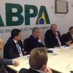 Durante visita à sede da Associação Brasileira de Proteína Animal (ABPA) na manhã de ontem, dia 09/04, em São Paulo ...