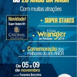 De 7 a 9 de novembro, na Fazenda Barrinha, em Espírito Santo do Pinhal, SP, a Associação Nacional do Cavalo de Rédeas realiza o ANCR Super Stakes 2014. Uma prova com limite de idade, uma das três grandes e oficiais ...
