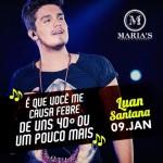Dia 09 de janeiro tem show nacional com Luan Santana no Maria's Informações e reservas: (47) 3056-7273 ou (47) 9732-2385