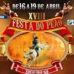 A 18ª Festa do Peão de Edealina (GO) esta chegando, de 16 a 19 de abril, confira a programação: 04/04: ...