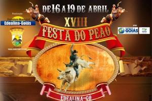 A 18ª Festa do Peão de Edealina (GO) esta chegando, de 16 a 19 de abril, confira a programação: 04/04: DESFILE DA RAINHA (Sábado) 12/04: DESFILE DE CAVALEIROS (Domingo) 15/04: DESFILE CÍVICO ( Quarta Feira – Comemoração do Aniversário da ...