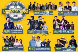 A Festa do Peão de Taboão da Serra 2015 chega para agitar a região metropolitana de São Paulo. A grande festa, que acontece em um espaço de mais de 87 mil m² localizado em frente ao INSS na Estrada de ...