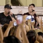 Com muita música boa, Bruno e Marrone surpreendem usuários do metro no Recife