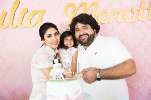 Fabiano comemora festa da filha com show exclusivo