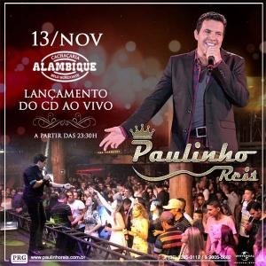 Paulinho Reis lança novo CD em Belo Horizonte