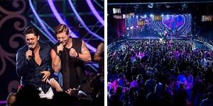 A gravação do DVD Ouça Com o Coração pode ser resumida como um presente que a música sertaneja está ganhando.