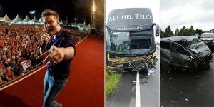 Na manhã desse domingo (10), aconteceu um acidente fatalem Ortiguieira(PR), na BR 376, entre o ônibus do cantor Michel Teló e um veículode passeio com três ocupantes. O ônibusestava voltando para Campo Grande (MS), depois de um show que o ...