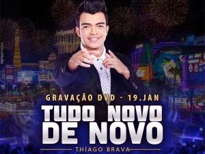Amanhã, terça-feira, 19, o cantor e compositor Thiago Brava irá gravar o segundo DVD de sua carreira, novamente na cidade de Goiânia (GO).
