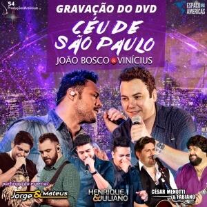 Gravação do DVD Céu de São Paulo, de João Bosco e Vinícius