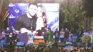 Milhares de pessoas participaram da missa realizada em Goiânia noite de ontem