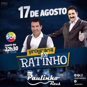 Paulinho Reis participa do Programa do Ratinho