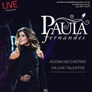 Paula Fernandes assina com o escritório da Live Talentos