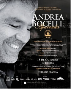 Daniel cantando com Andrea Bocelli