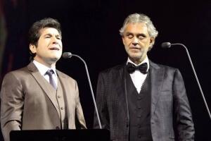 Daniel e Andrea Bocelli em Curitiba