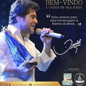 Devoto fiel de Nossa Senhora Aparecida, Daniel foi convidado pela Escola de Samba Unidos de Vila Maria