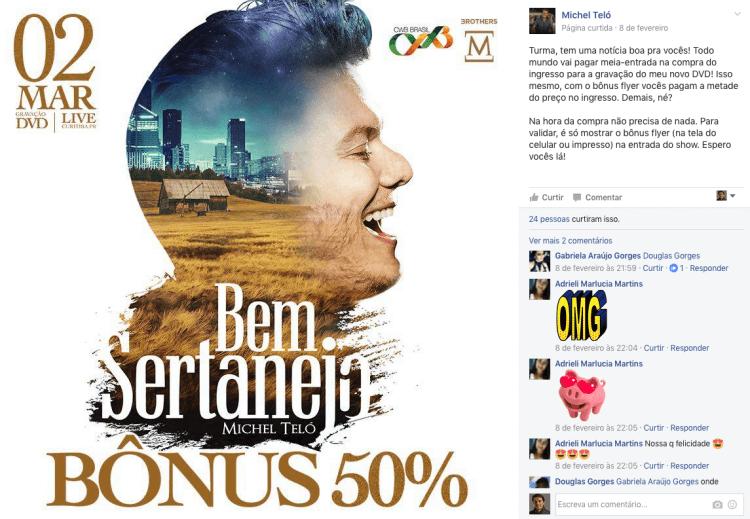 Gravação do DVD Bem Sertanejo - Michel Teló
