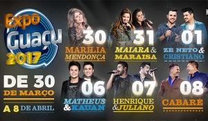Expoguaçu 2017 - Ingressos e Shows