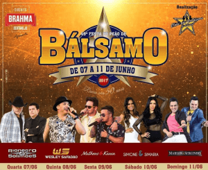 Festa do Peão de Bálsamo 2017 - Ingressos e Shows