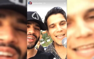 Sertanejo gravou momento e postou nas redes sociais.