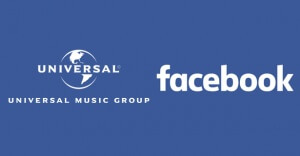 Facebook e a Universal Music Group