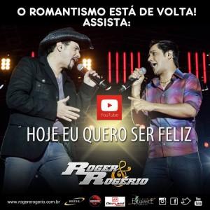 """A dupla Roger e Rogério disponibilizou para baixar o seu mais um sucesso sertanejo, a música se chama """"Hoje Eu Quero Ser Feliz"""". Depois dos sucessos 'Open Bar' e 'Aperte o play' a canção """"Hoje Eu Quero Ser Feliz"""" explora ..."""