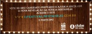 A votação do Festival Sertanejo 2013 se encerra no dia 14 de outubro A votação que está escolhendo os 40 candidatos que irão passar para a fase das audições eliminatórias no Festival Sertanejo 2013 está a todo vapor! Milhares de ...