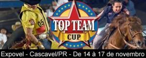 As atenções do rodeio nacional se voltam a partir desta quinta-feira, 14, para a arena da Expovel, onde acontecerá a definição dos campeões Top Team Cup temporada 2013. A etapa será realizada de 14 a 17 de novembro com disputas ...