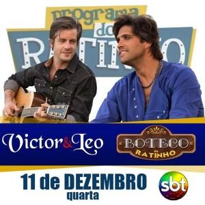 """Os cantores sertanejos Victor e Leo serão um dos convidados especiais de hoje, no Programa do Ratinho. Além de cantar os maiores sucessos, a dupla também irá participar do quadro """"Sabe tudo"""" e falar sobre os novos projetos para o ..."""