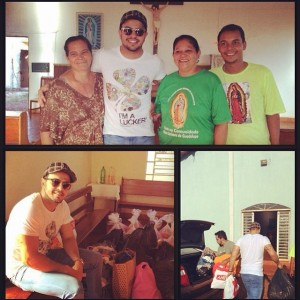 Na tarde da última terça, dia 24, o cantor Henrique, da dupla Henrique e Diego, participou da entrega das doações da Campanha do Agasalho 2014 que ele promoveu em Campo Grande, MS, junto ao Centro de Beleza Renascer, Centro Stoffer ...