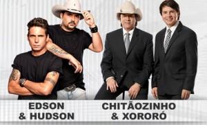 No próximo sábado, dia 11 de abril, a dupla sertaneja Chitãozinho e Xororó irá dividir o palco com os irmãos ...