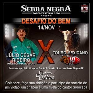 Serra Negra Rodeo Festival terá Desafio do Bem em prol do Hospital Santa Rosa de Lima