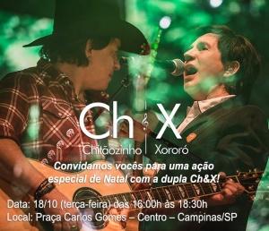 Chitãozinho e Xororó convidam fãs para uma ação especial de Natal, em Campinas